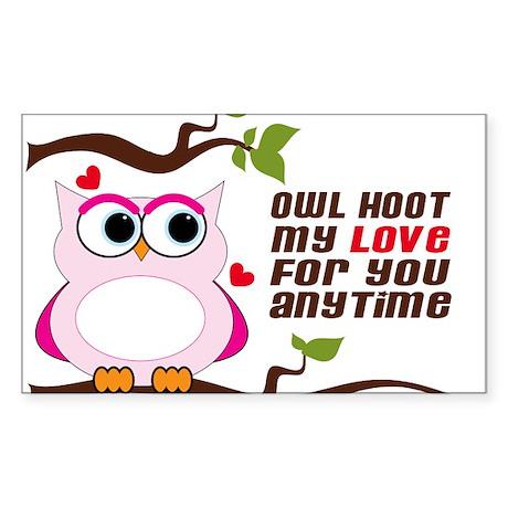Owl Hoot Sticker (Rectangle)