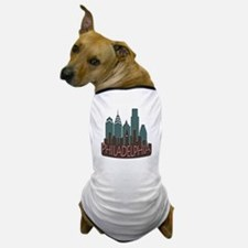 Philly Skyline Newwave Chocolate Dog T-Shirt