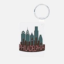 Philly Skyline Newwave Chocolate Keychains