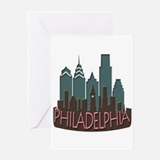 Philly Skyline Newwave Chocolate Greeting Card