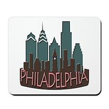 Philly Skyline Newwave Chocolate Mousepad