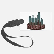 Philly Skyline Newwave Chocolate Luggage Tag