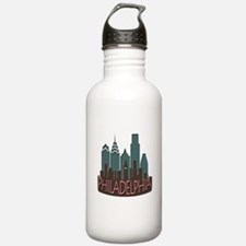 Philly Skyline Newwave Chocolate Water Bottle