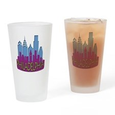Philly Skyline Newwave Cool Drinking Glass