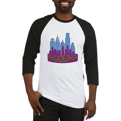 Philly Skyline Newwave Cool Baseball Jersey