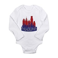 Philly Skyline Newwave Patriot Long Sleeve Infant