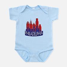 Philly Skyline Newwave Patriot Infant Bodysuit
