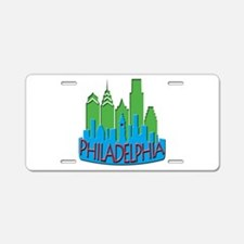 Philly Skyline Newwave Primary Aluminum License Pl