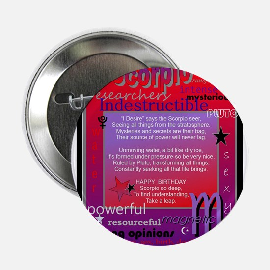 "SCORPIO BIRTHDAY 2.25"" Button"