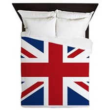 Cute British flag Queen Duvet