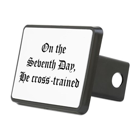 He Cross-Trained Rectangular Hitch Cover