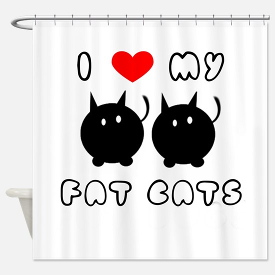 i love my fat cats Shower Curtain