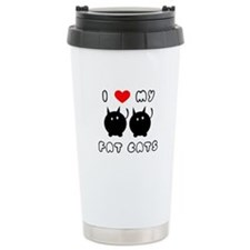 i love my fat cats Travel Coffee Mug