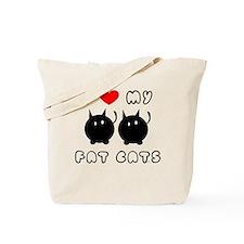 i love my fat cats Tote Bag