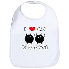 i love my fat cats Bib