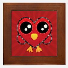 Heart Red Bird Framed Tile