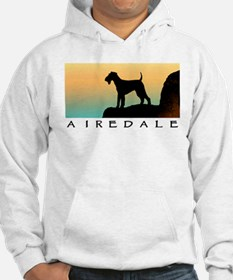 airedale terrier sunset cliff Hoodie