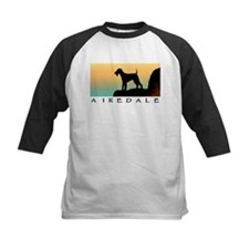 airedale terrier sunset cliff Tee
