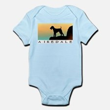 airedale terrier sunset cliff Infant Creeper