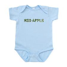 Red Apple, Vintage Camo, Infant Bodysuit