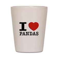 I love Pandas Shot Glass