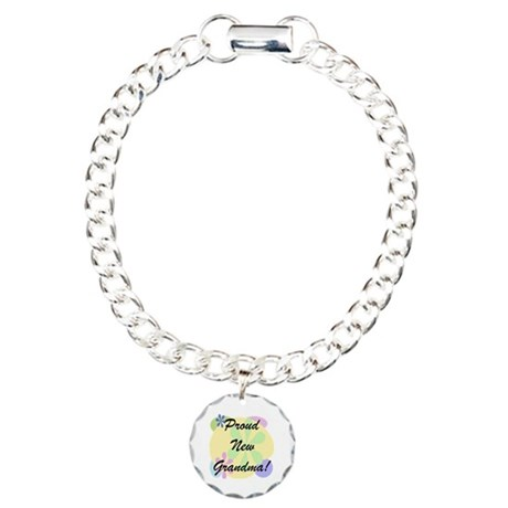 Proud New Grandma Charm Bracelet, One Charm