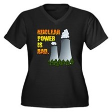 Nuclear Power is Rad. Women's Plus Size V-Neck Dar