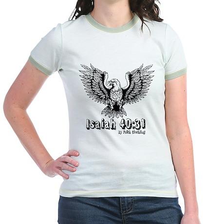 Isaiah 40:31 Wings of Eagles Jr. Ringer T-Shirt