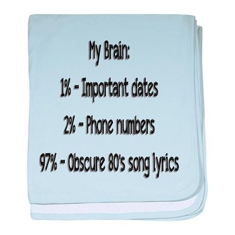My Brain baby blanket