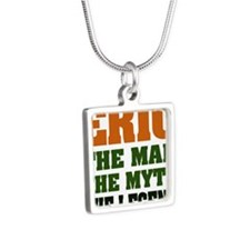 Eric The Legend Silver Square Necklace