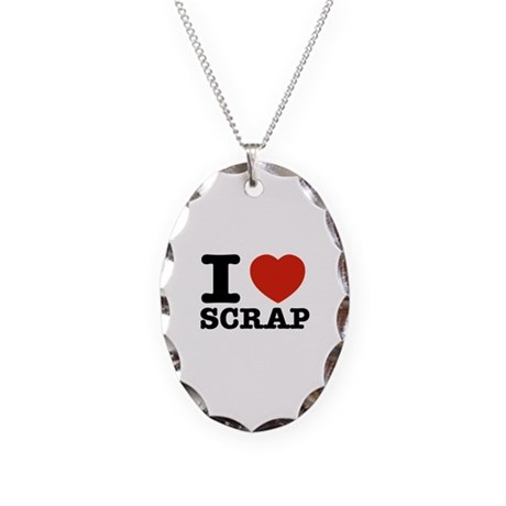 I love Scrap Necklace Oval Charm