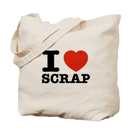 I love Scrap Tote Bag