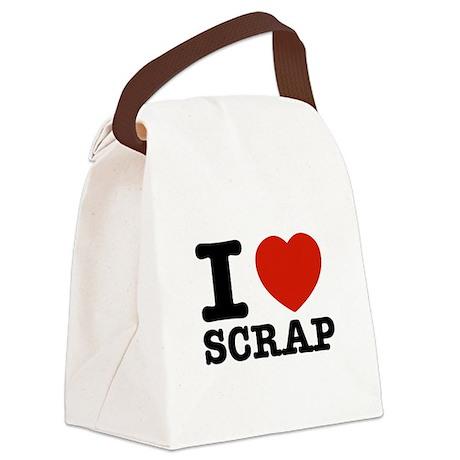 I love Scrap Canvas Lunch Bag