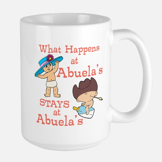What Happens at Abuela's Large Mug