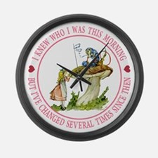 I Knew Who I Was This Morning Large Wall Clock