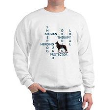 Belgian sheepdog Crossword Sweatshirt