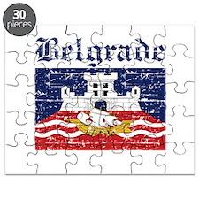 Flag Of Belgrade Design Puzzle