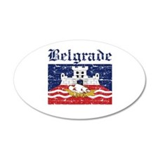 Flag Of Belgrade Design Wall Decal