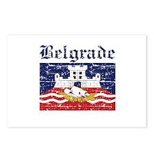 Flag Of Belgrade Design Postcards (Package of 8)