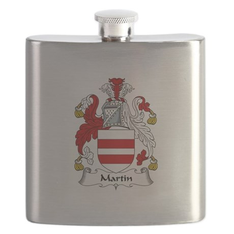 Martin Coat of Arms Flask
