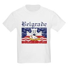 Flag Of Belgrade Design T-Shirt