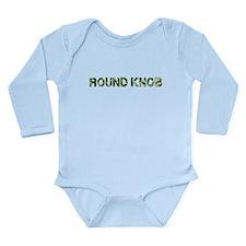 Round Knob, Vintage Camo, Long Sleeve Infant Bodys