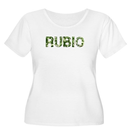 Rubio, Vintage Camo, Women's Plus Size Scoop Neck