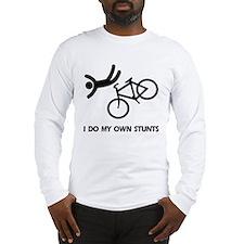 Bike, Bike, Funny Bike Stunts Long Sleeve T-Shirt