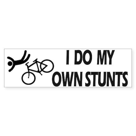 Bike, Bike, Funny Bike Stunts Bumper Sticker