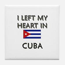 I Left My Heart In Cuba Tile Coaster