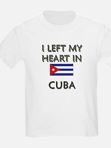 I Left My Heart In Cuba Kids T-Shirt