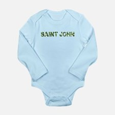 Saint John, Vintage Camo, Long Sleeve Infant Bodys