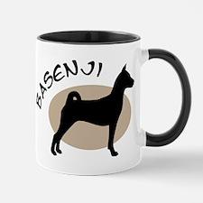 basenji dog black & tan Mug