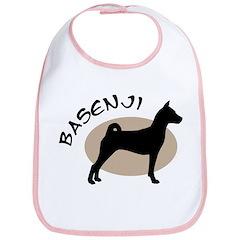 basenji dog black & tan Bib